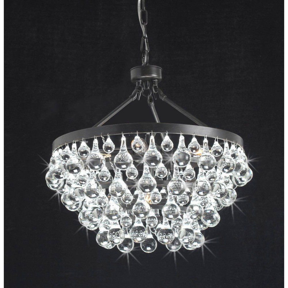Modern style glass crystal 5 light luxury antique bronze chandelier modern style glass crystal 5 light luxury antique bronze chandelier 19hx17 arubaitofo Images