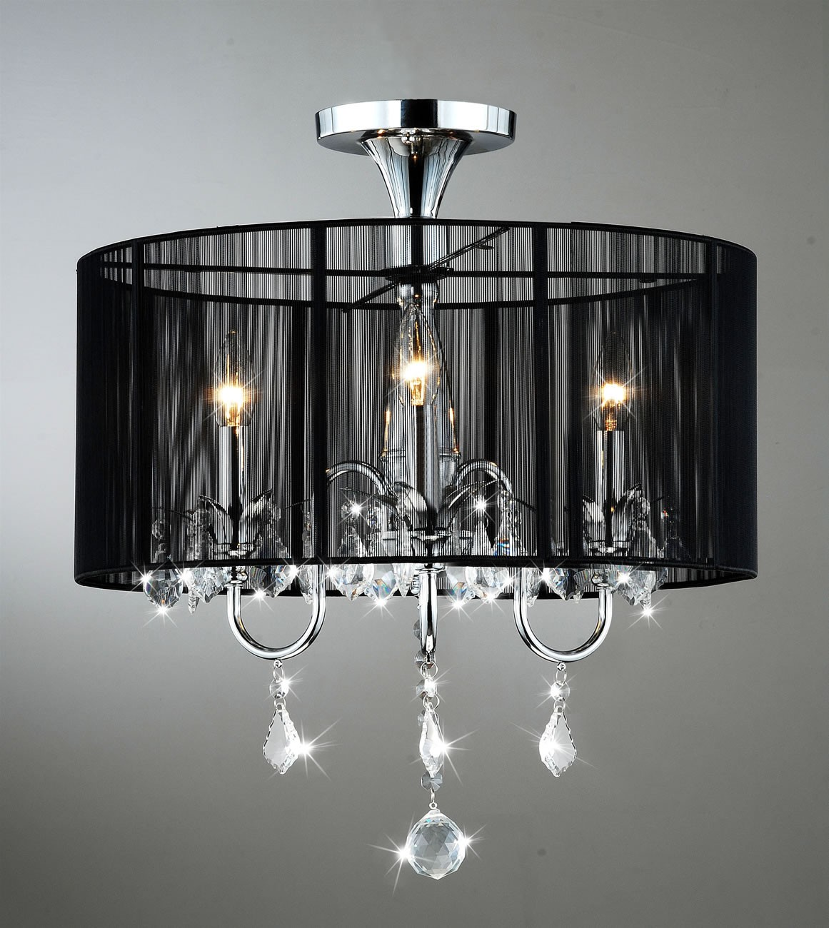 Aubree 3 lights black and chrome semi flush mount crystal chandelier aubree 3 lights black and chrome semi flush mount crystal chandelier 185w x aloadofball Gallery