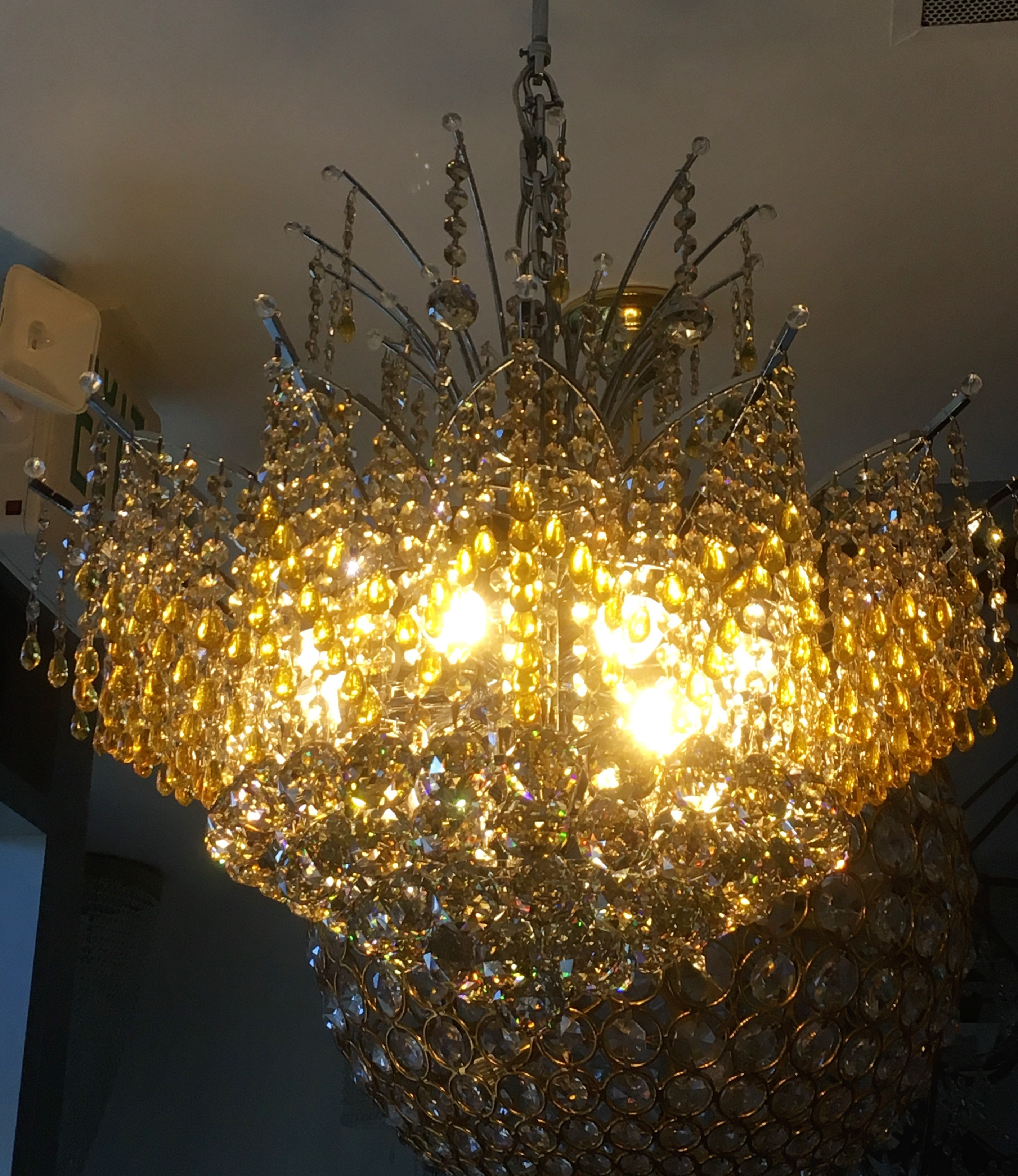 Belissima Of Milan 10l Contemporary Afour Crystal Pendant Chandelier 24 Wx29