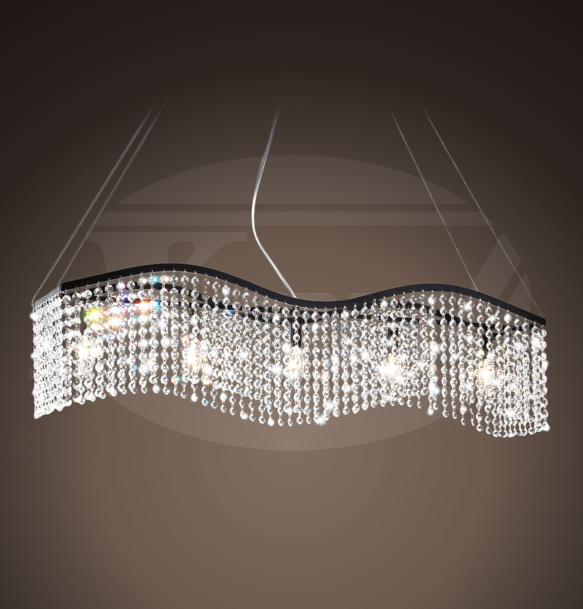chandelier led fibra lighting watch fiber optical crystal lamps hotel optic for