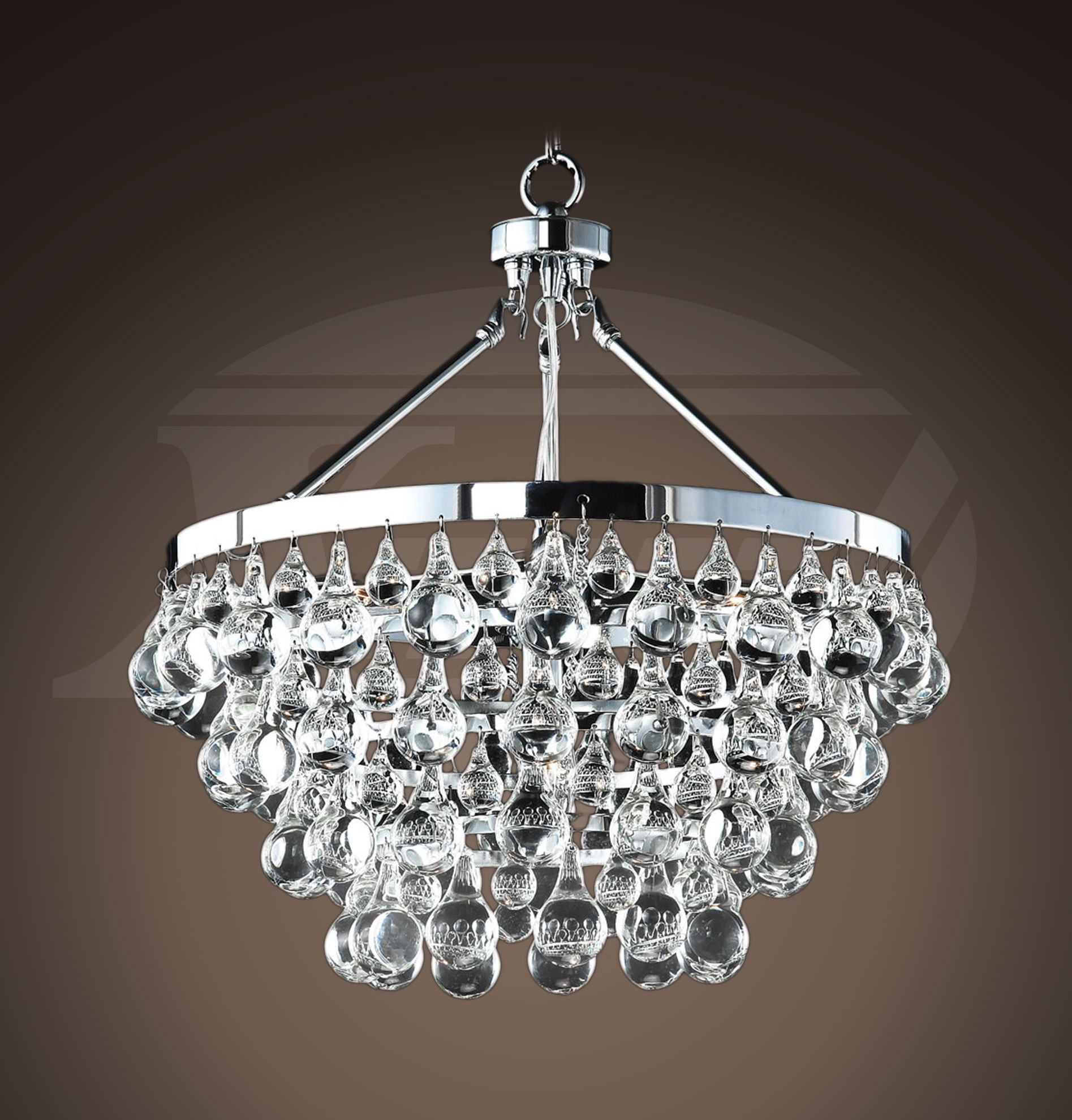 "Modern  Style Glass Crystal  5-light Luxury Chrome Chandelier (19""Hx17.5""W)XTKBCB028A5HX"
