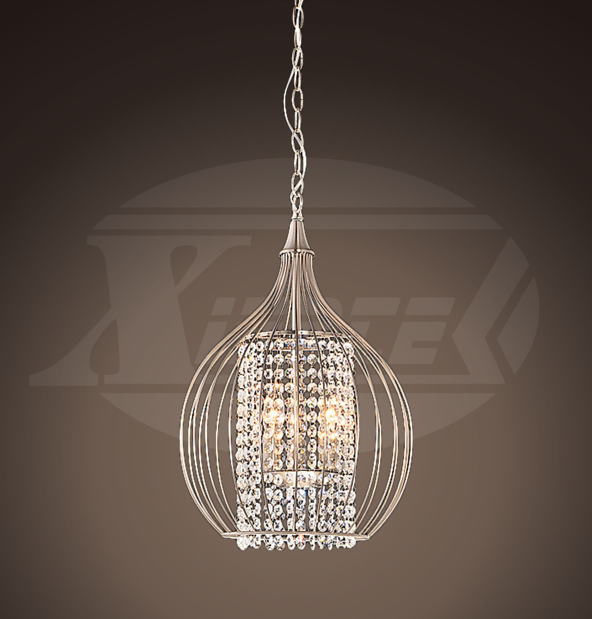 products home chandelier pendant nickel caviar arteriors large polished cluster fixed