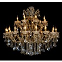 "Queen Royal Victoria of UK, 27L,  2 tiers Extra large Over Size K9 Gold Crystal Chandelier  (49""Wx45""H)XTK660785-18+9"