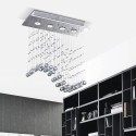 """Aaliyah  Wave 4-light Ceiling Bubble Crystal Chandelier (19.5""""L x 8""""W x 22.5""""H) XTKL759BL352X"""