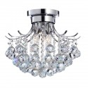 "kourtney Dazzling Crystal Refract Ball 3 light  Chrome Flashmount  Chandelier (10.5""Hx15""W) XTKBCS0313FSX*"