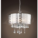 "Vivienne Stylish 4-light Chrome Frosted Glass Crystal Chandelier (18.5""H x 17.5""W) XTKBCM019CSRX"
