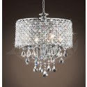 "Phoebe 4-light Round Chandelier Chrome Finish (17"" W x 16"" H) XTKBSD44SGX"