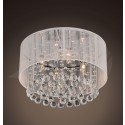 "Jenna  4-light Chrome and White Crystal Ceiling Mount Chandelier (9"" H x 16"" W) XTKL701BC323X"