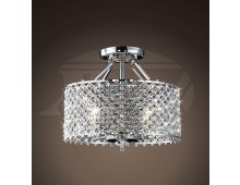 Helina Chrome And Crystal 4 Light Round Ceiling Flush Mount Chandelier 16 Hx17 W Xtkbxc70elx